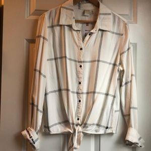 ROXY button down long sleeve shirt